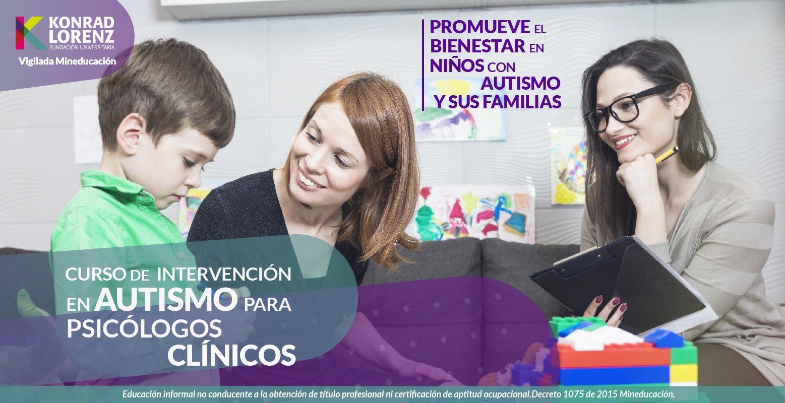 Curso avanzado de intervención en Autismo para Psicólogos Clínicos