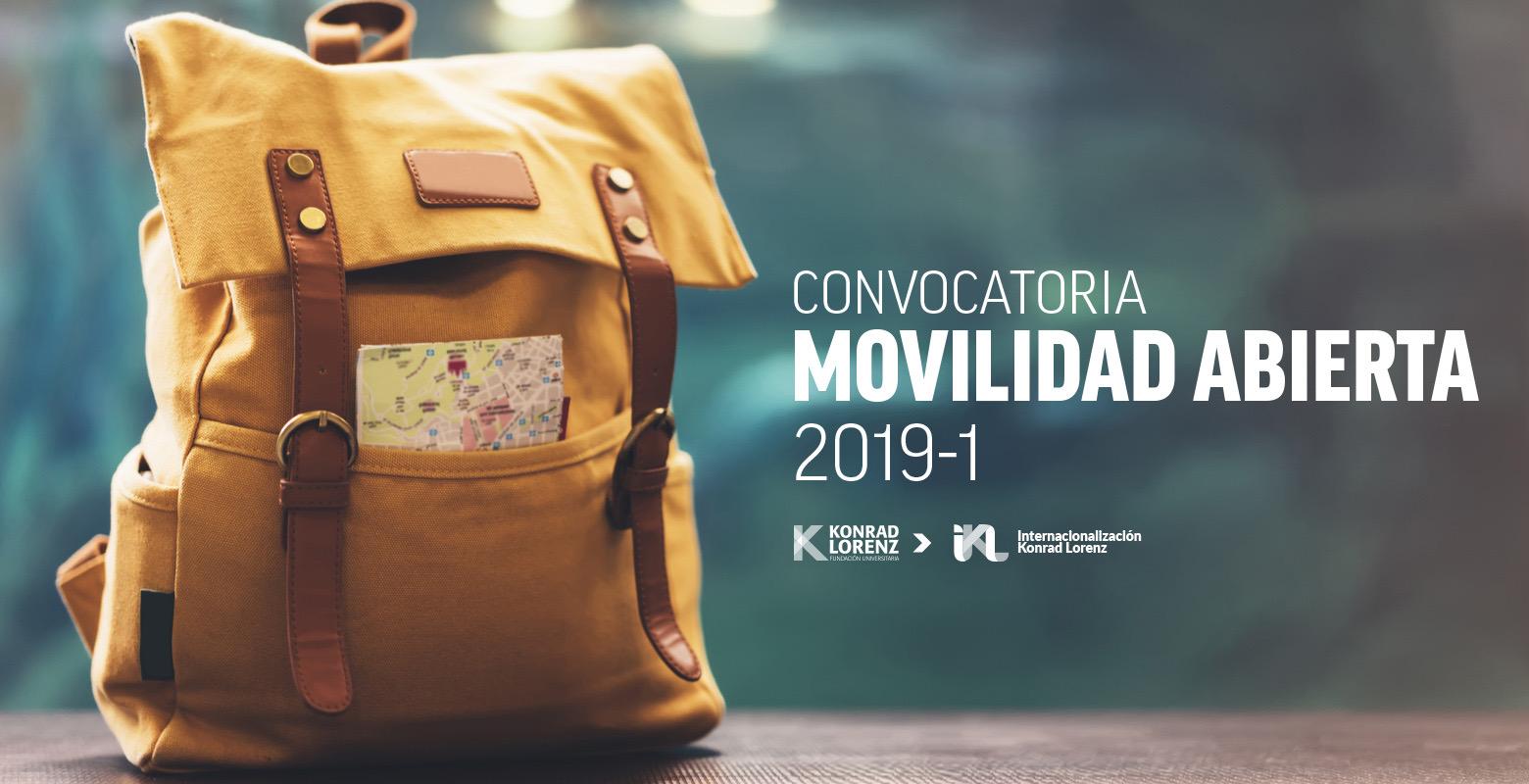 Convocatoria de Movilidad 2019-1 Abierta
