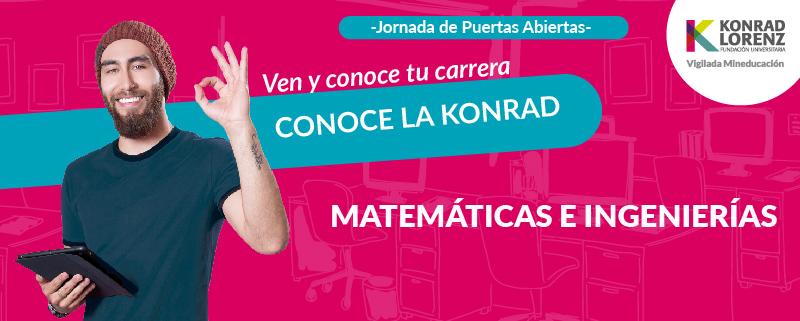 Jornadas de Puertas Abiertas: Ingeniería Industrial, Ingeniería de Sistemas o Matemáticas