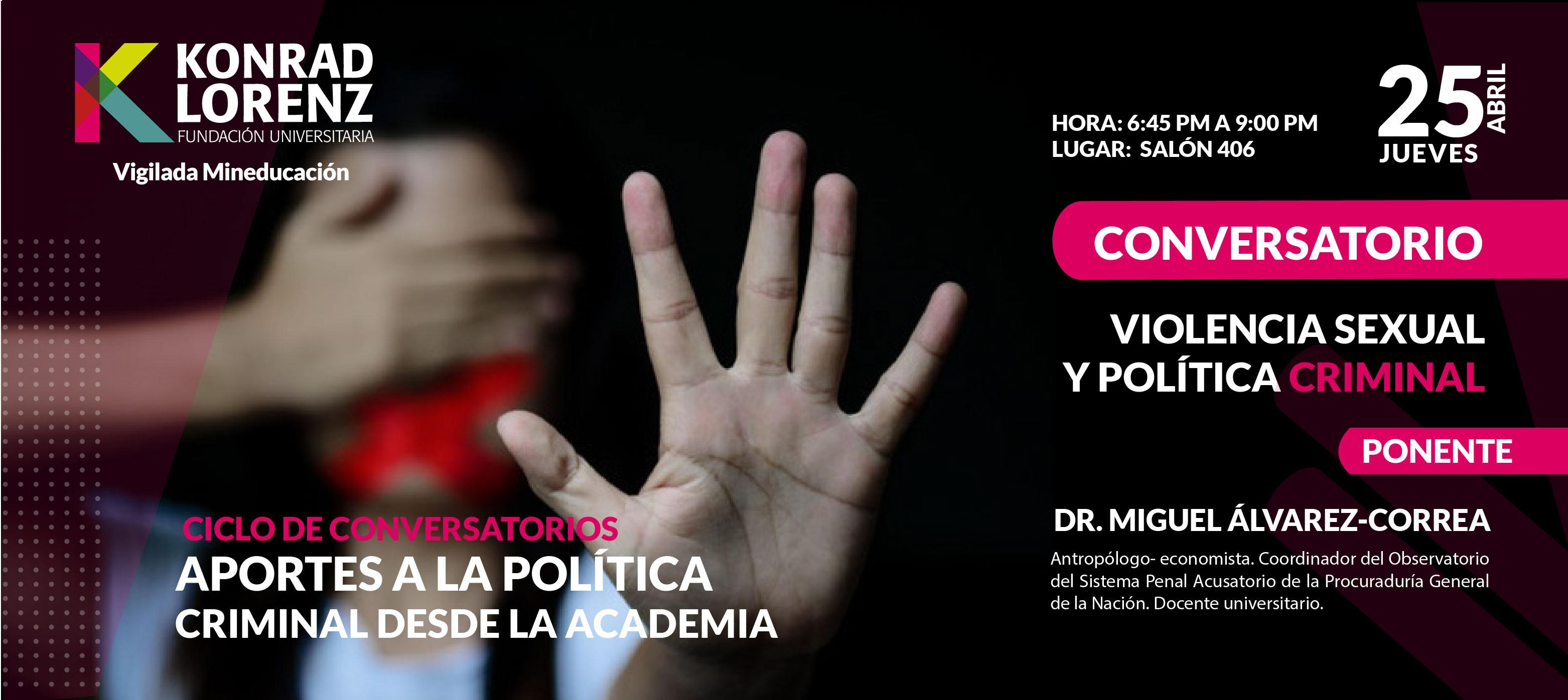 Violencia sexual y política criminal | Segundo conversatorio