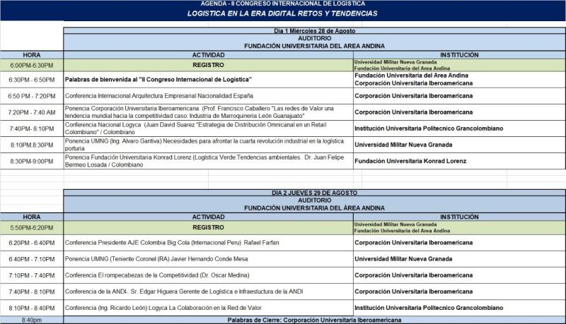 Agenda congreso Internacional