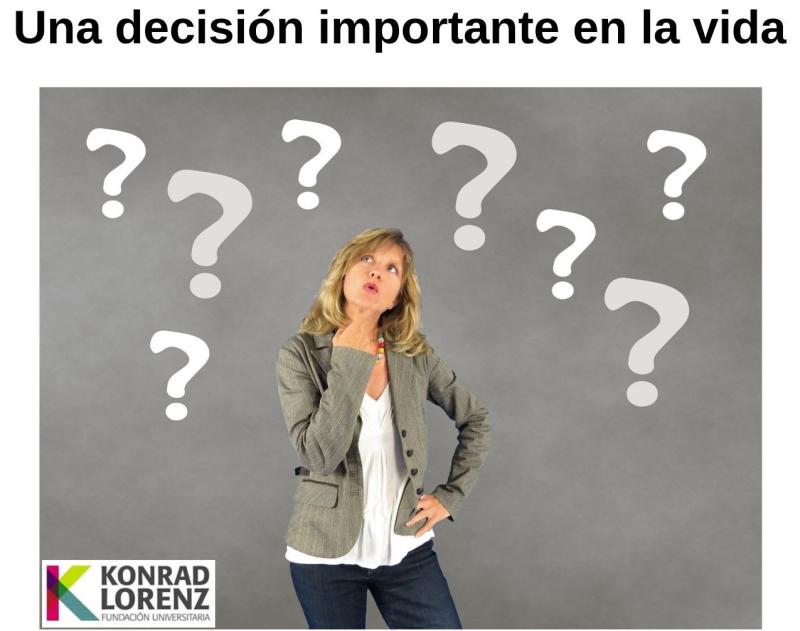 Una decisión importante en la vida