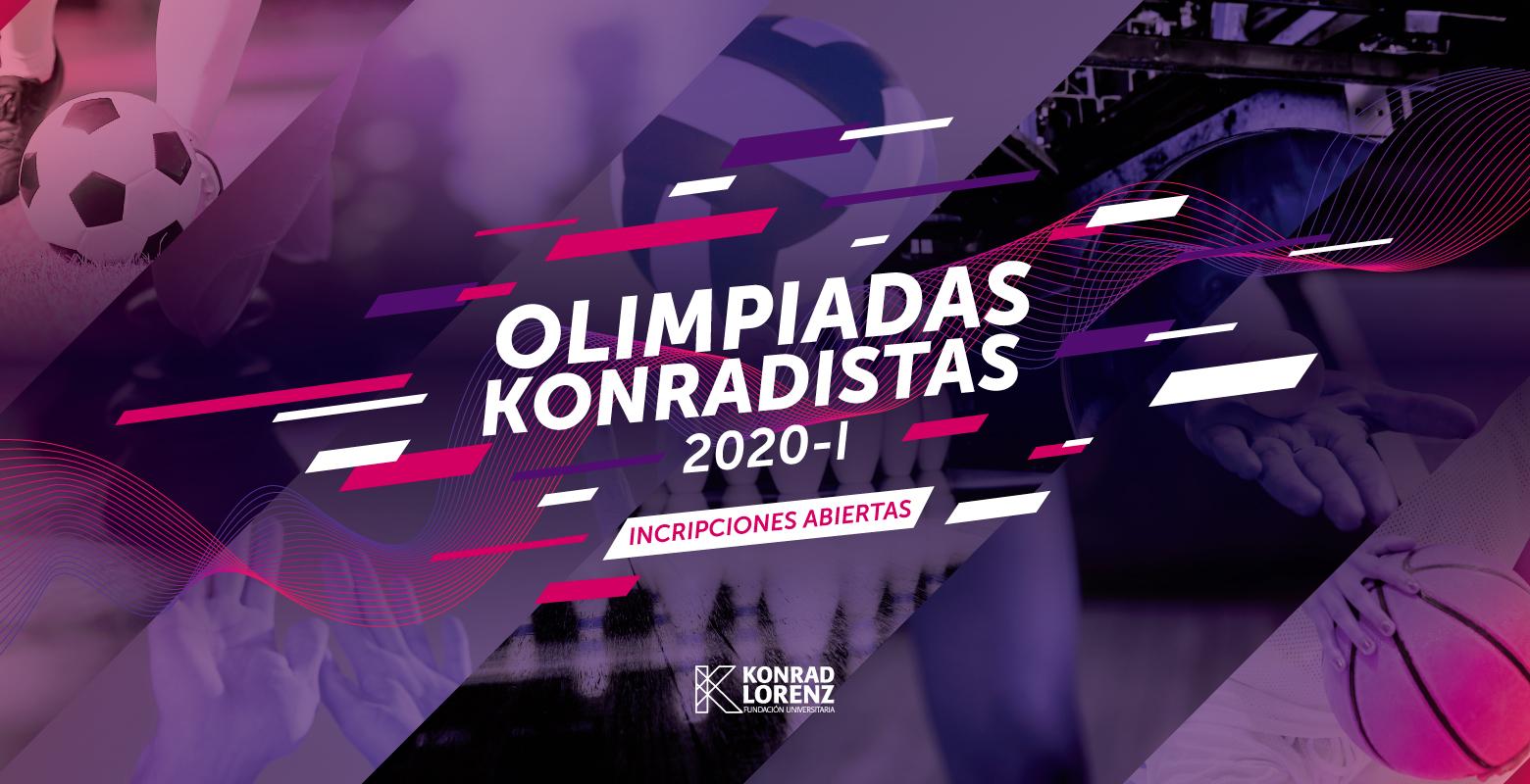 Prográmate e inscríbete en las Olimpiadas Konradistas 2020-I