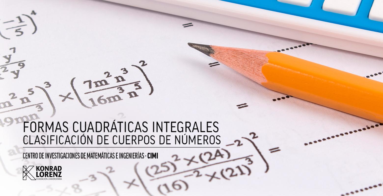 Formas cuadráticas integrales clasificación de cuerpos de números