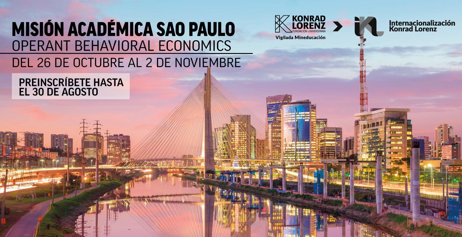 Misión académica a Sao Paulo Operant Behavioral Economics