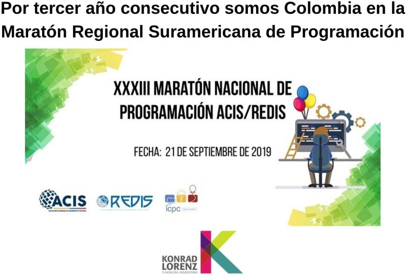 Por tercer año consecutivo somos Colombia en la Maratón Regional Suramericana de Programación