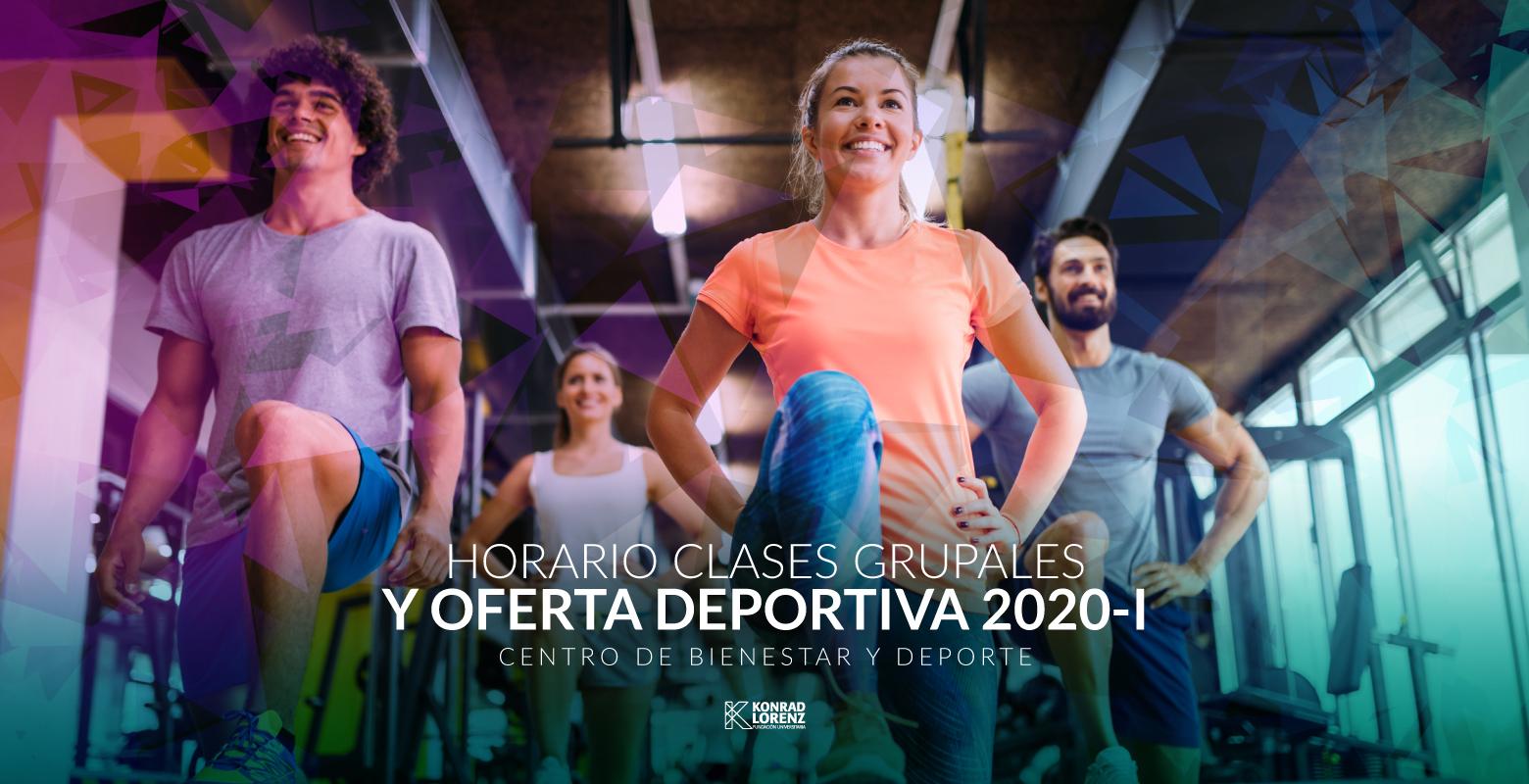 Horario de clases grupales y oferta deportiva 2020-I