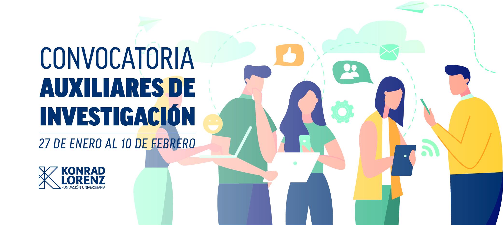 CONVOCATORIA INSTITUCIONAL AUXILIARES DE INVESTIGACIÓN 2020-1 / 2020-2