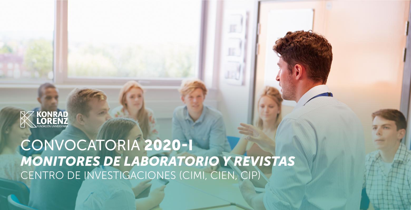Convocatoria para Monitores de Laboratorio y Revistas 2020-I