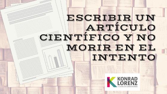 Escribir un artículo científico y no morir en el intento