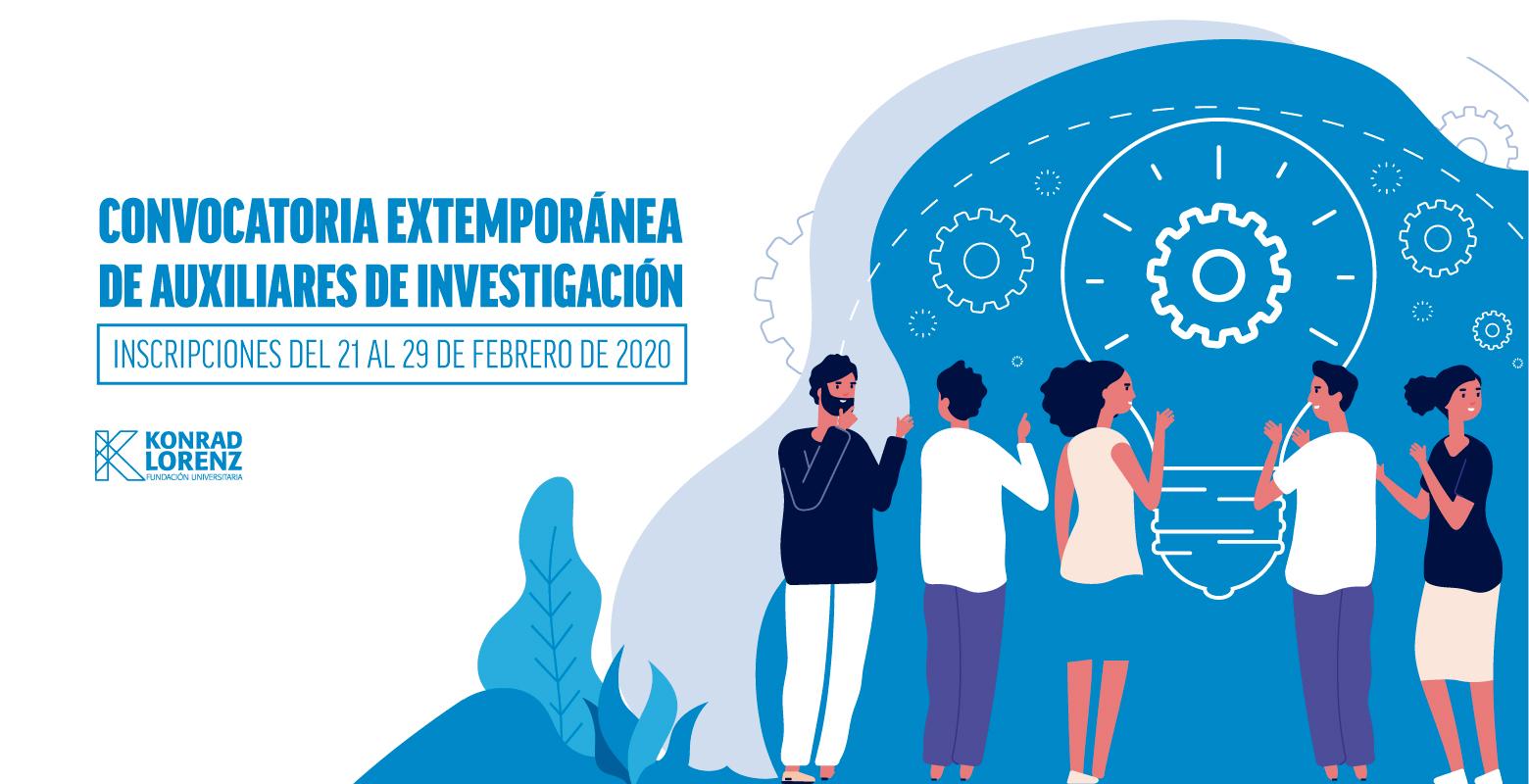 CONVOCATORIA EXTEMPORÁNEA AUXILIARES DE INVESTIGACIÓN 2020