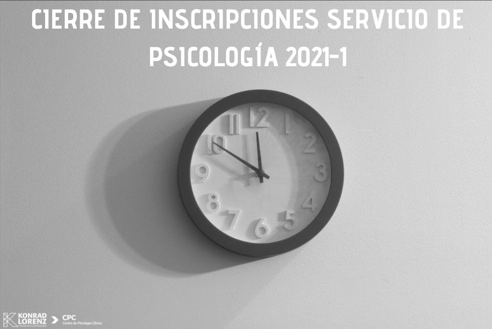 CIERRE INSCRIPCIONES SERVICIOS DE TELEPSICOLOGÍA