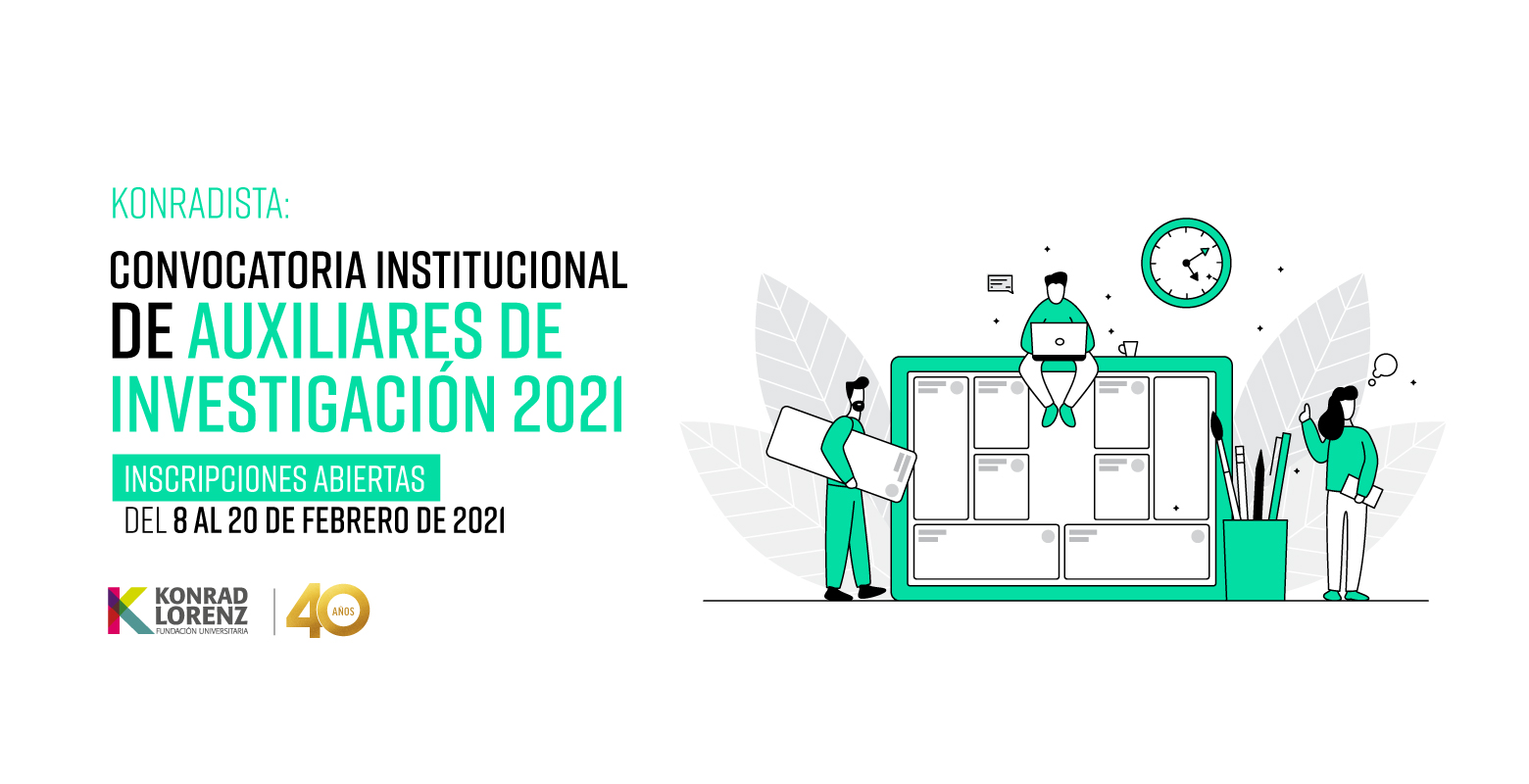 Konradista: Convocatoria de Auxiliares de Investigación 2021