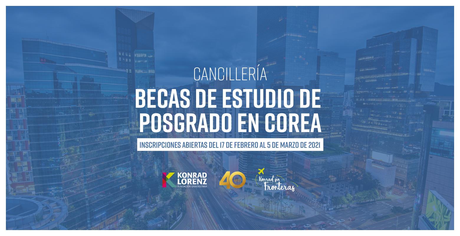Cancillería: Becas de Estudio de Posgrado en Corea