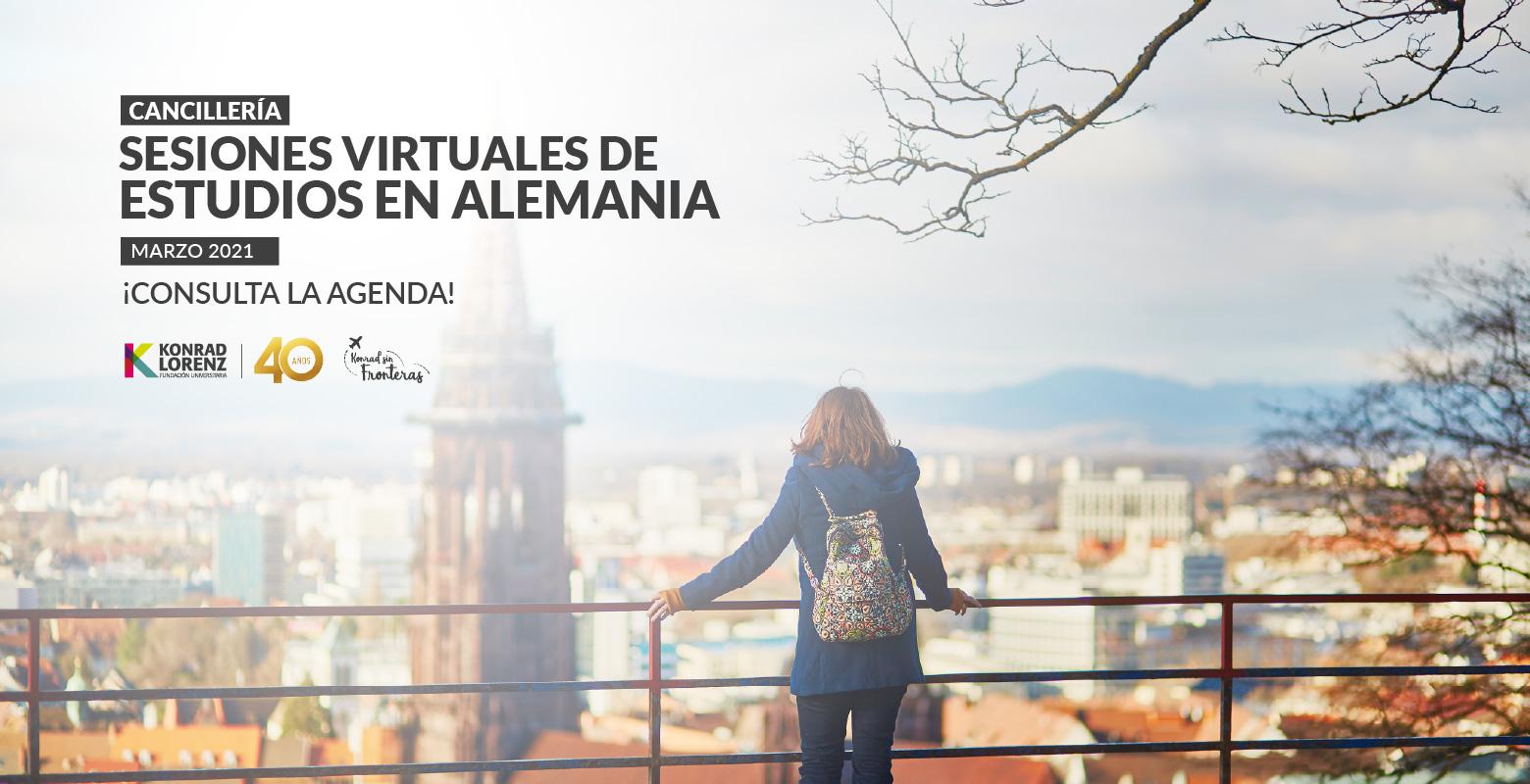 Cancillería: Sesiones Virtuales de Estudios en Alemania - Marzo 2021