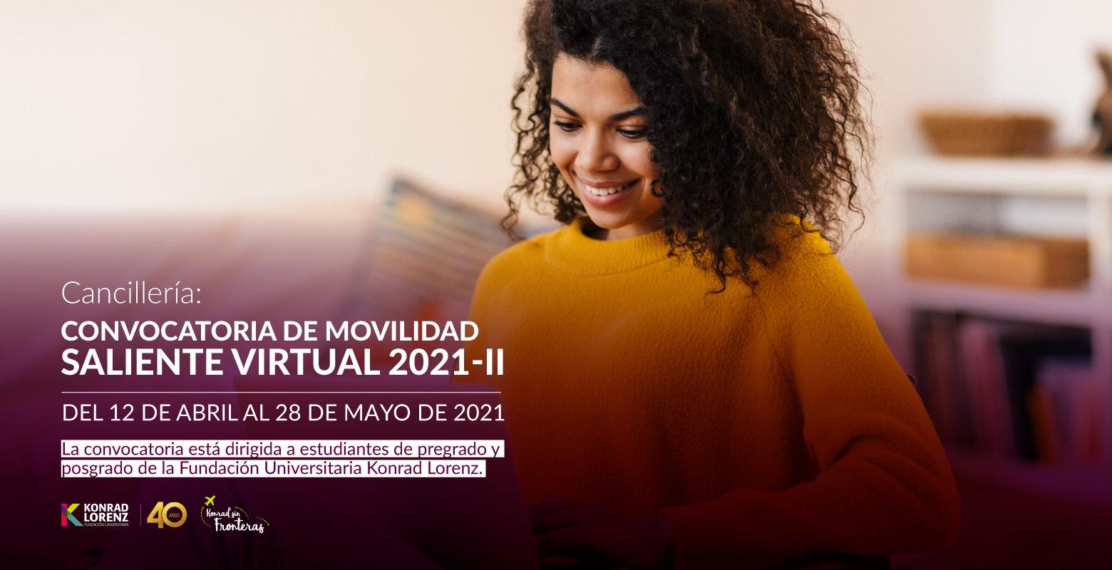 Convocatoria de Movilidad Saliente Virtual 2021-II