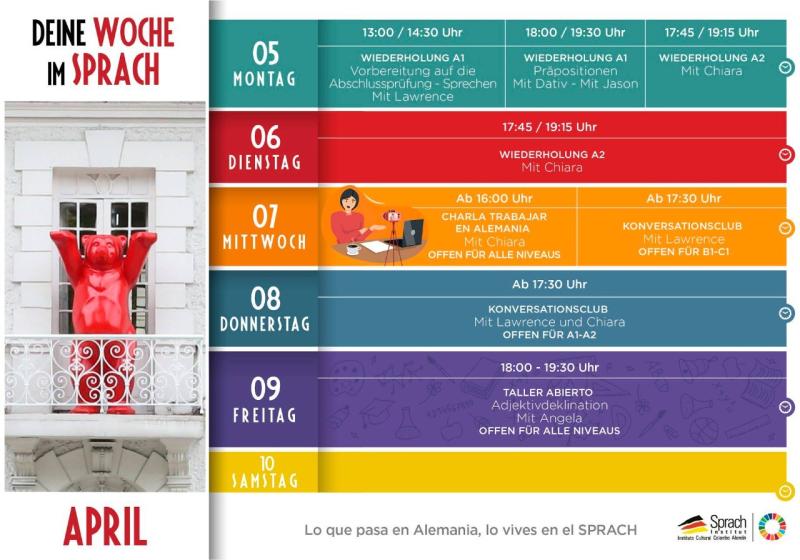 Agenda Abril Sprach