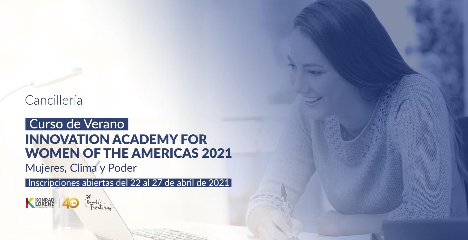 Curso de Verano: Innovation Academy for Women of The Americas 2021 - Mujeres, Clima y Poder