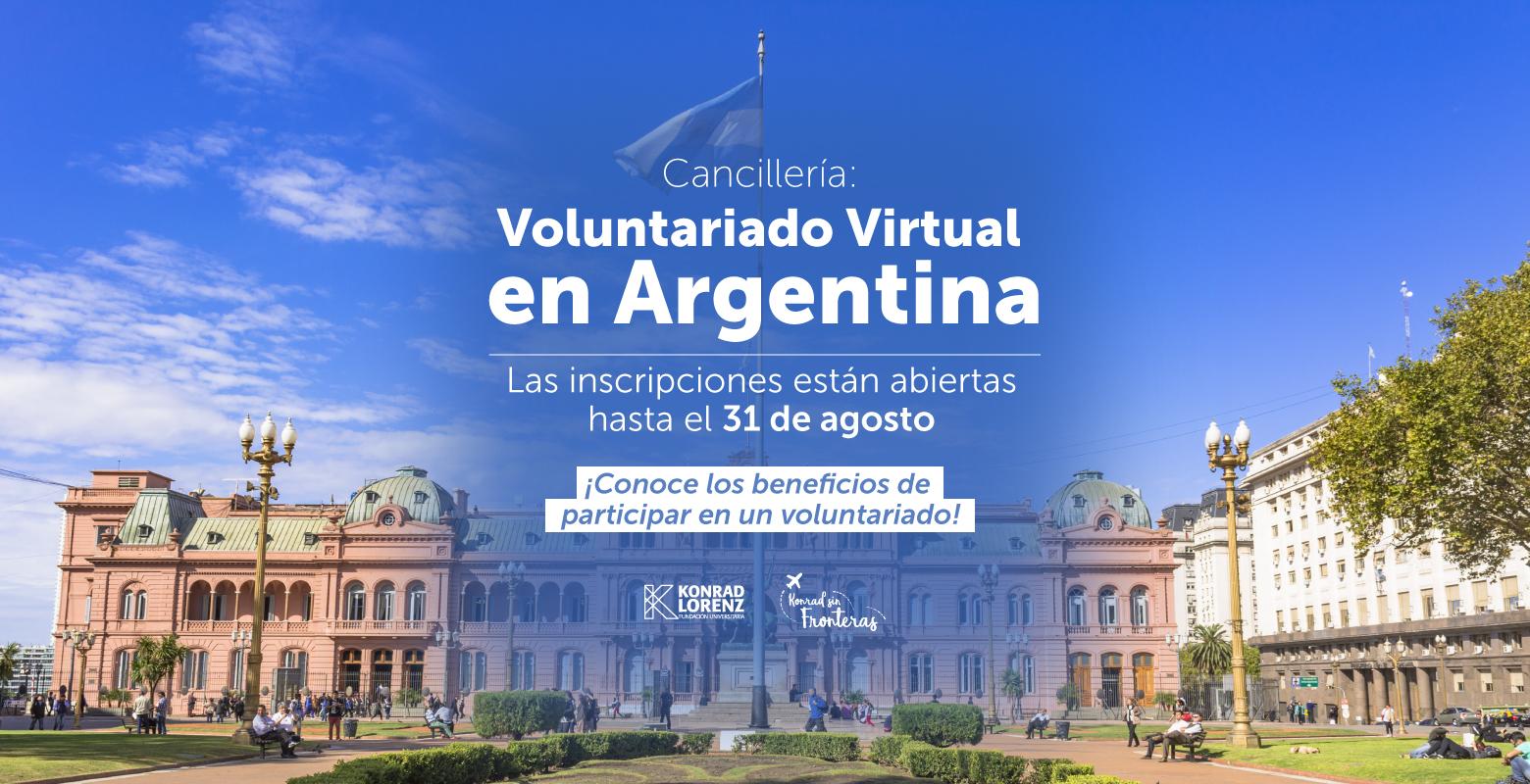 Cancillería: Voluntariado Virtual en Argentina