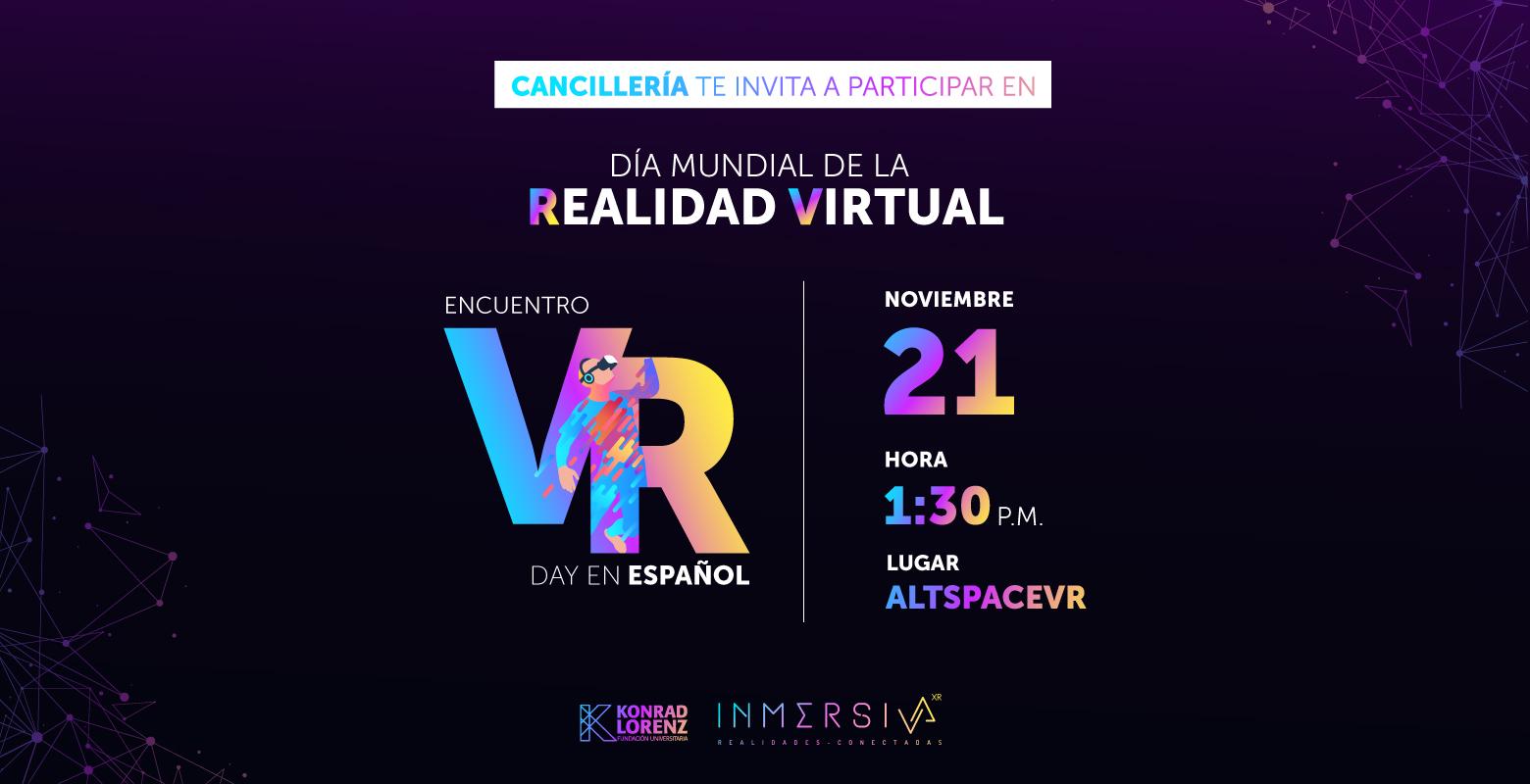 Cancillería: Participa en el Encuentro VR Day en Español