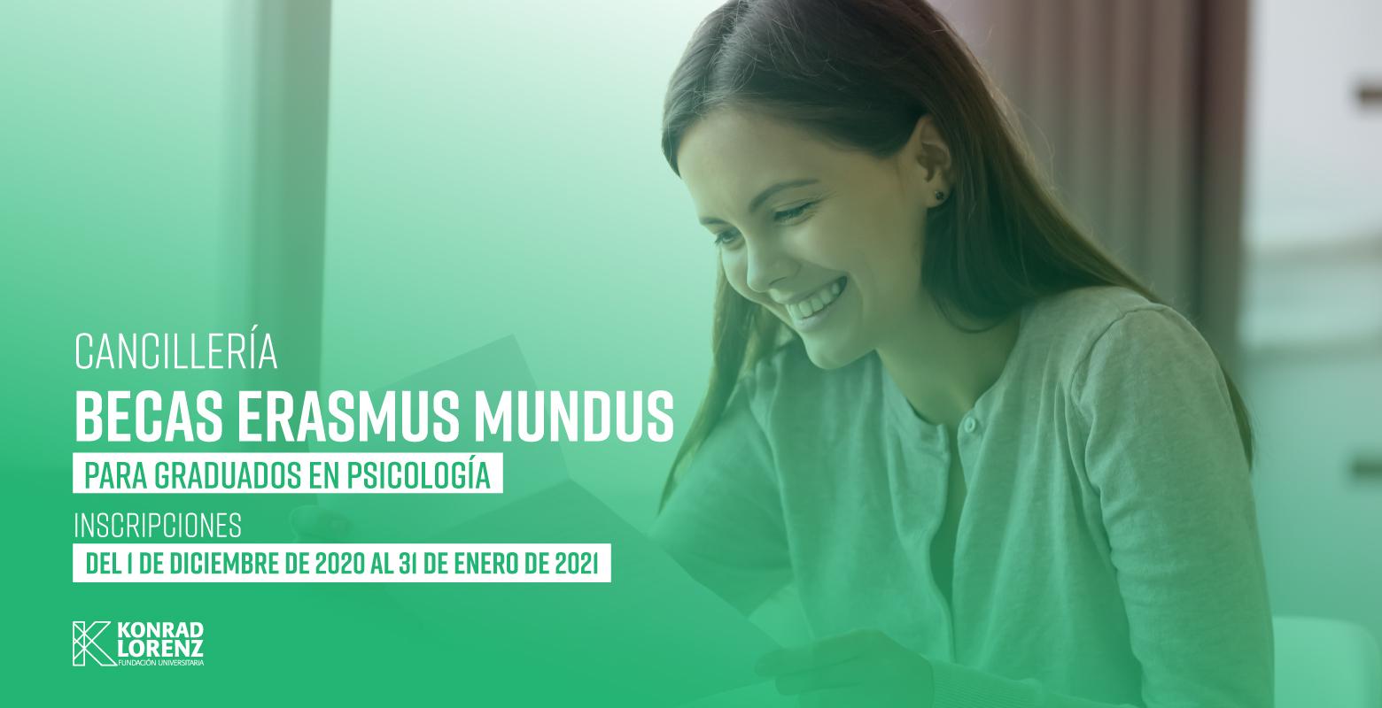 Cancillería: Becas Erasmus Mundus