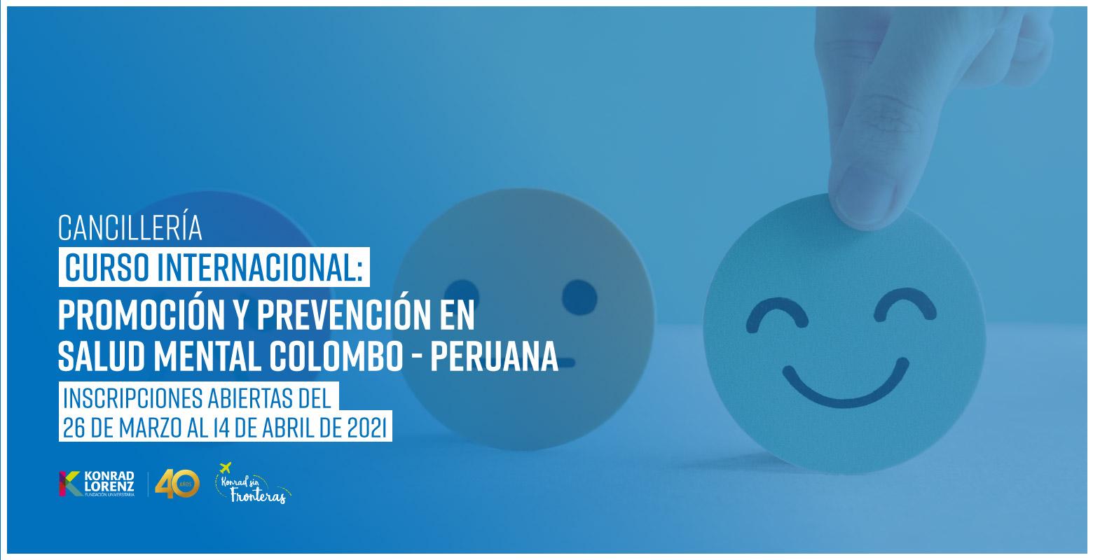 Curso Internacional: Promoción y Prevención en Salud Mental Colombo - Peruana