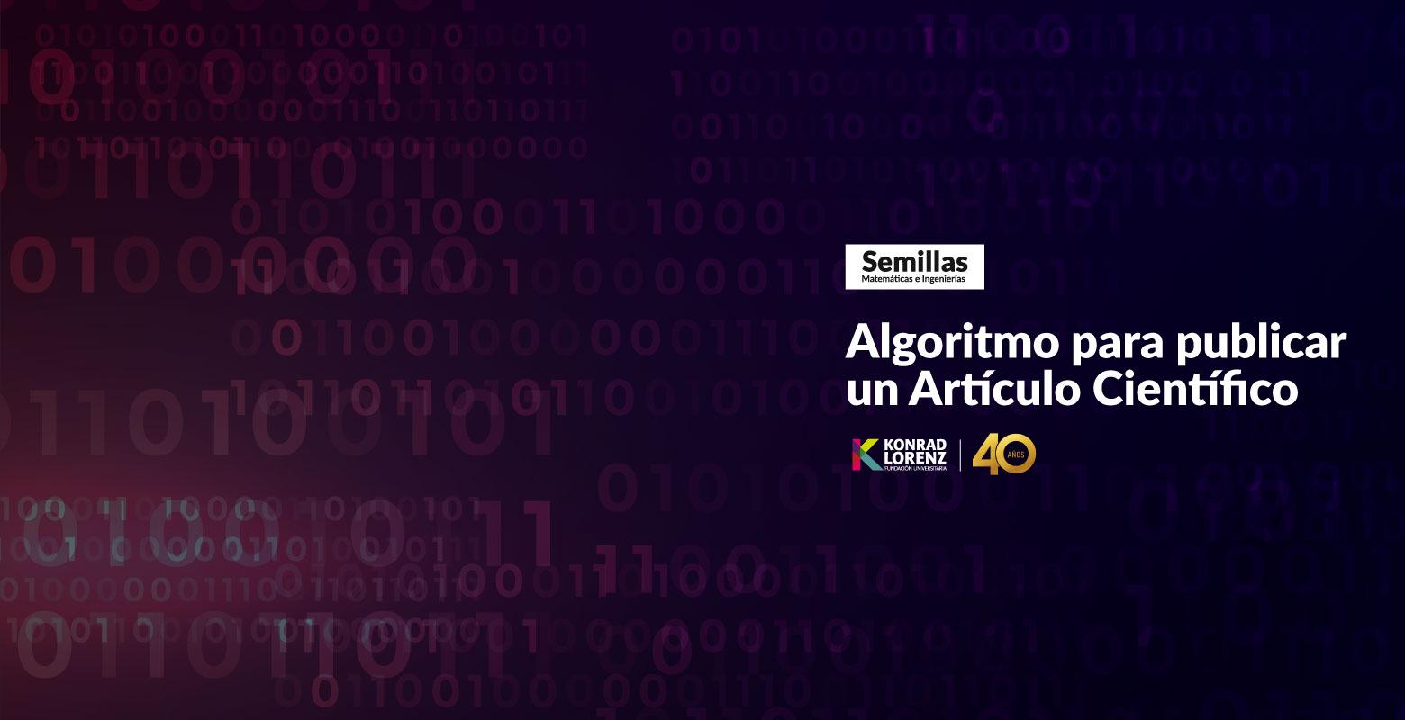 Algoritmo para publicar un Artículo Científico