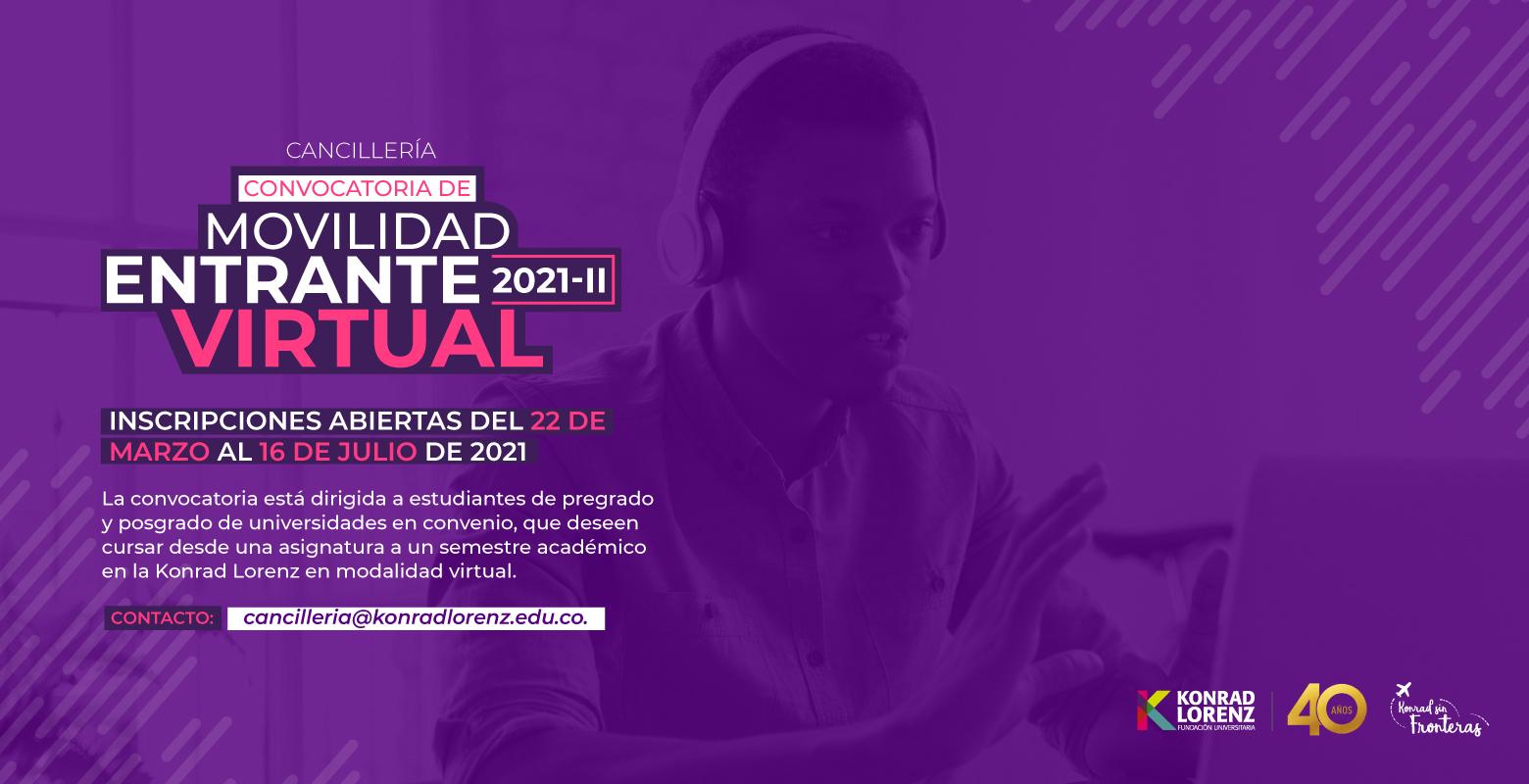 Convocatoria de Movilidad Entrante Virtual 2021-II