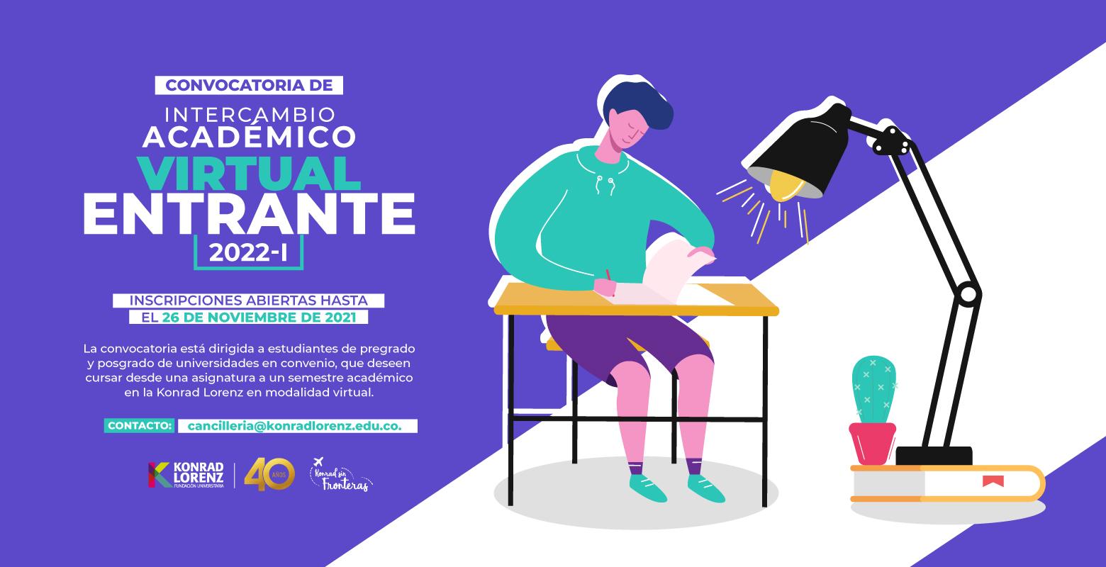 Convocatoria de Intercambio Académico Virtual Entrante 2022-I