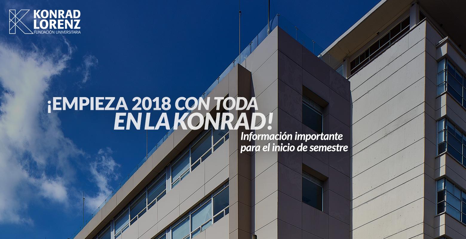 ¡Inicia 2018 con toda en la Konrad!