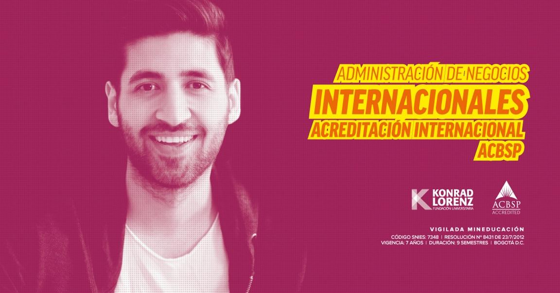 Administración de Negocios Internacionales en la Fundación Universitaria Konrad Lorenz